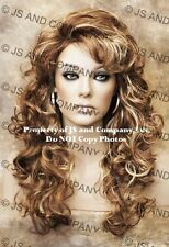 Full Long Curly Teased top Blonde Auburn Mix  WIG TRCA RS29