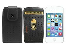 New Black Leather Vertical Case Cover Pouch for iPhone 4S 4 & 3G With