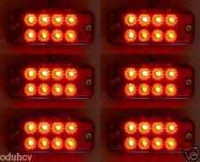 6 pcs x 24V 8 LED Side Marker RED Rear Lights for Iveco Man Daf Scania Volvo