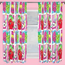 "SHOPKINS SHOPAHOLIC CURTAINS 66"" X 72"" DROP KIDS BEDROOM NEW OFFICIAL"