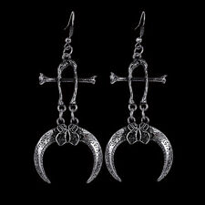 RESTYLE CLAWS & BONES ANTIQUE SILVER STYLE EARRINGS. RAVEN CLAWS. OCCULT/GOTHIC.