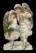 Victorian style Snow Baby Angel Cherub Scrap For Card Making Art Project