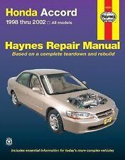 1998-2002 Haynes Honda Accord Repair Manual