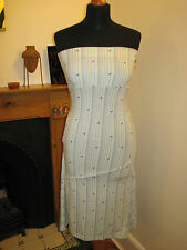 FENCHURCH MIDI BEACH TUBE DRESS UK 8 XS NEW SURF 2 ways to wear STRIPE BLUE