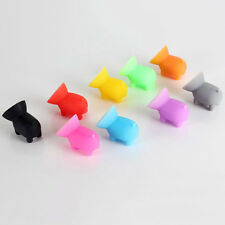 5PCS Mini Sucker Silicone Pig Shape Holder Mobile Cell Phone Stand Funny