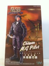 "BBI ELITE  FORCE AVIATOR CHINESE MIG PILOT ""WANG HAI"" SQD. LEADER KOREAN WAR 1/6"