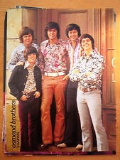 The OSMONDS Popfoto magazine PHOTO / Pin Up /Poster 11x8 inches
