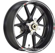 Adesivi cerchi tuning con tricolore per Honda Hornet - stickers wheels