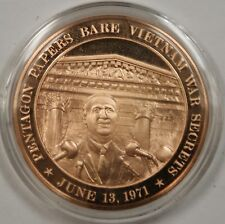 Bronze Proof Medal Pentagon Papers Bare Vietnam War Secrets June 13, 1971