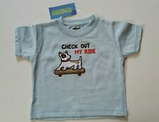 Gymboree Boys Skate Park Shirt Dog Blue Check Out My Ride Size 6-12 Months