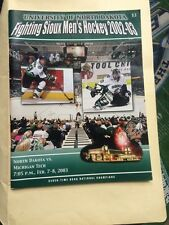 UND Fighting Sioux Hockey History Program Book 76 Pages Michigan Tech Feb 2003