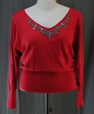 Worthington, XL, Cherry Cordial Faux Jewel Sweater, New with Tags
