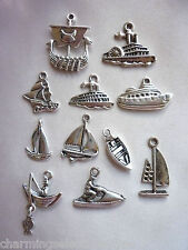 Charm Set Long Boat Yacht Sail Cruise Paddle Steamer Dinghy Fishing Jet Ski DIY