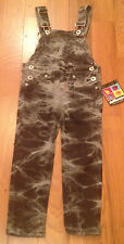 NWT Dollhouse Gray/Black TIE DYE Denim Overalls Jeans Girls 3T