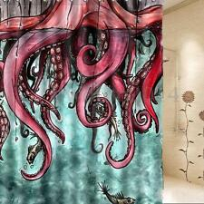 Abstract Octopus Bathroom Shower Curtain Waterproof Fabric 60 x 72 Inch +12Hooks