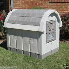 Heated Insulated Large Dog House Deluxe Dog Palace Doghouse Floor Heater