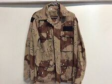 USGI US MILITARY CHOCOLATE CHIP 6 COLOR BDU TOP HOOK AND LOOP SMALL / REG VGC