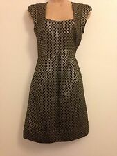 Ladies Black/gold Party Dress By French Connection, Size 8, Gc