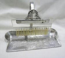 Vintage Everlast Hand Forged Aluminum Crumb Butler Dust Pan with broom