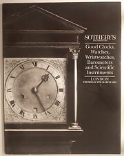 1992 Sotheby's Catalogue CLOCKS WATCHES BAROMETERS GLOBES SCIENTIFIC INSTRUMENTS