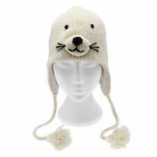 Fun Seal Handmade Winter Woollen Animal Hat Fleece Lining One Size, UNISEX