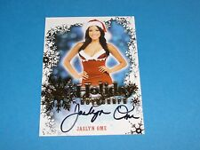 2014 Benchwarmer JASLYN OME Signature Holiday On Card Autograph PLAYBOY Playmate