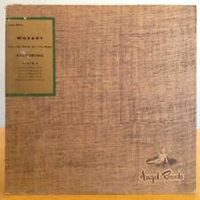 VG++ MOZART complete works for solo piano album 6 GIESEKING ANGEL UK 35073 LP