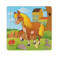 Wooden Horse Jigsaw Toys For Kids Education And Learning Puzzles Toys Sale