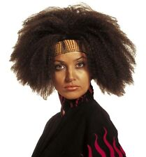 Long Curly Black African Afro Wig Pop Star 70s 80s 90s Chaka Khan Fancy Dress