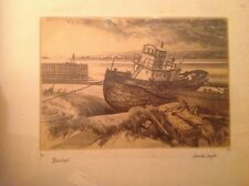 Harold Sayer Limited Edition (1/100) Etching: Beached 1983 Signed          (987)