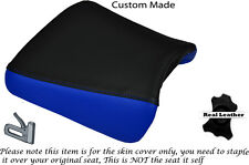 ROYAL BLUE & BLACK CUSTOM FITS APRILIA RS 50 EXTREMA FRONT LEATHER SEAT COVER
