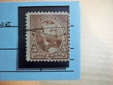 USA Used, 1890-93 Issue 5 Cent GrantPerf 12 Chocolate, Scott #223.