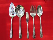1939 Reflection Pattern 5 Serving Pieces By Rogers Mfg Silver Plate
