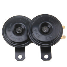 2x CAR BLACK SUPER LOUD GRILLE MOUNT COMPACT ELECTRIC HORN KIT FOR 12V 111DB
