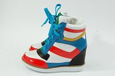Jeffrey Campbell Patent Leather Sneaker Wedge Napoles 8.5 White