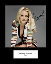 BRITNEY SPEARS #4 Signed Photo Print 10x8 Mounted Photo Print - FREE DELIVERY