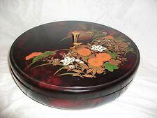 Vintage Toyo Japan Plastic Laquer Covered Serving Dish Turning Lazy Susan Asian