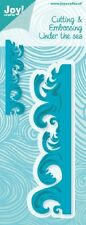 JOY CRAFTS DIE CUTTING & EMBOSSING STENCIL-  UNDER THE SEA - WAVE 6002/0330