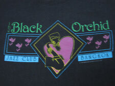 SUPER RARE!! 80s vintage THE BLACK ORCHID jazz club BANGKOK thailand MEDIUM