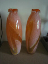 stunning pair of xl Murano art glass vases, perfect condition