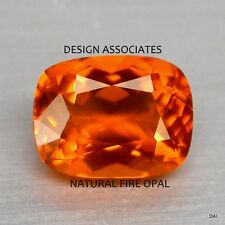 MEXICAN FIRE OPAL 7x5 MM CUSHION CUT ALL NATURAL