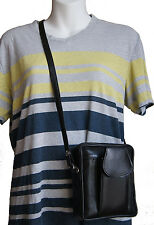 Mens Leather Crossbody Travel Shoulder Bag Cigarette Small Handbag Phone Kit New
