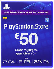 PLAYSTATION NETWORK CARD PSN CARD 50€ PS3 PS4 PSVITA ESPAÑA