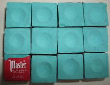 Green Masters Billiard Chalk - 12 pieces/1 dozen