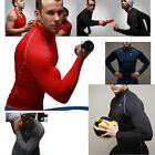 Mens Compression Thermal Under Base Layer Top Long sleeves Gym Muscle T-shirts A