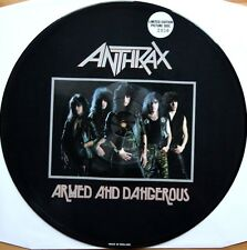"ANTHRAX ARMED AND DANGEROUS 12"" VINYL LTD ED PICTURE DISC 1985 MEGAFORCE MRS-05"
