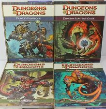 Set of 4 Dungeons & Dragons Core Rules Books 4th Edition PHB DMG MM MM2 Guides