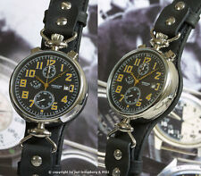 KIROVA Poljot 3133 Retro Aviation Chronograph Pilot's watch montre russe