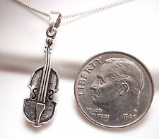 Violin Necklace 925 Sterling Silver Corona Sun Jewelry musician classical music