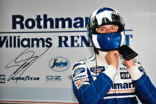 David Coulthard SIGNED 12x8 F1 Williams Helmet Portrait 1995 GP Season